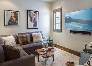 Media Room - Four Pines - Teton Village Luxury Cabin Rental
