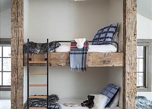 Bunk Room - Four Pines - Teton Village Luxury Cabin Rental