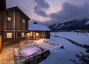 Hot Tub/Patio - Four Pines - Teton Village Luxury Cabin Rental
