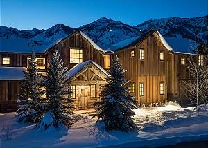 Front Exterior - Four Pines - Teton Village Luxury Cabin Rental