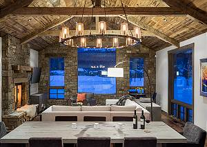 Dining/Great Room - Four Pines - Teton Village Luxury Cabin