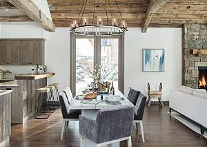 Dining Room - Four Pines - Teton Village Luxury Cabin Rental