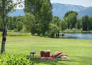Backyard and Pond - Grizzly Wulff Lodge - Jackson Hole, WY