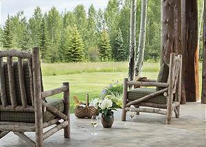 Patio - Grizzly Wulff Lodge - Luxury Cabin, Jackson Hole, WY