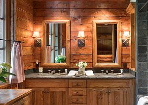 Bathroom 2 - Grizzly Wulff Lodge - Luxury Cabin Jackson Hole