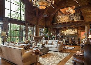 Great Room - Royal Wulff Lodge -Luxury Villa Jackson Hole, WY