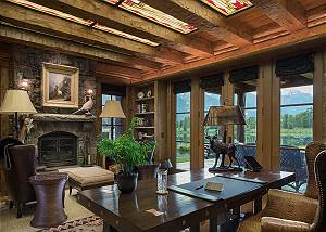 Office - Royal Wulff Lodge - Luxury Villa Rental Jackson Hole