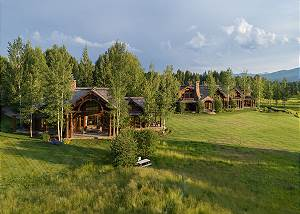 Aerial View of Grizzly and Royal Wulff  Lodges - Jackson Hole, W