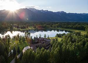 Aerial View - Royal Wulff Lodge - Luxury Villa - Jackson Hole