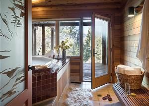 Hot Tub - Rocking V - Private Cabin in the Woods - Jackson Hole,