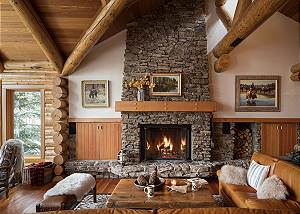 Great Room -Rocking V - Private Cabin in the Woods - Jackson Hol