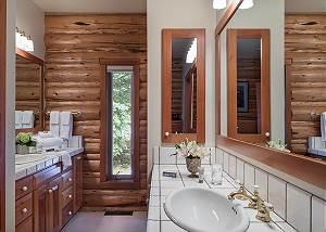 Master Bathroom - Rocking V - Private Cabin in the Woods - Jacks