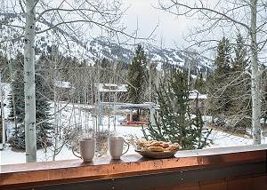 Deck View - Moose Creek - Slopeside Luxury Cabin Teton Village
