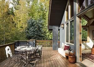 Back Deck - Holly Haus - Teton Village Luxury Villa Rental