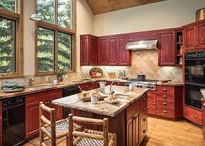 Kitchen - Holly Haus - Teton Village Luxury Villa Rental
