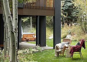 Backyard - Holly Haus - Teton Village Luxury Villa Rental