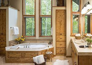 Master Bathroom - Holly Haus - Teton Village Luxury Villa Rental