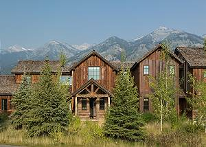 Front Exterior - Four Pines - Teton Village Luxury Cabin Rental