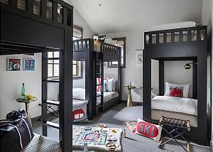 Guest Bedroom 2 - Four Pines - Teton Village Luxury Cabin Rental