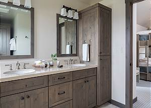 Guest Bathroom - Four Pines - Teton Village Luxury Cabin Rental