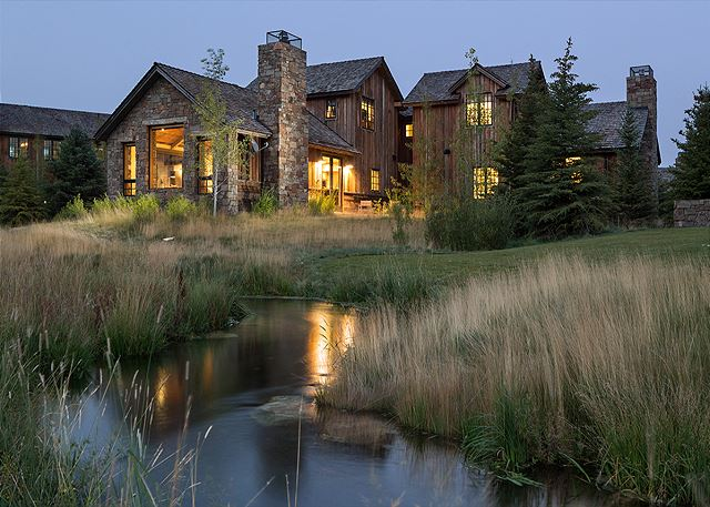 Back Exterior - Four Pines - Teton Village Luxury Cabin Rental