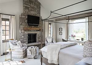 Master Bedroom - Four Pines - Teton Village Luxury Cabin Rental