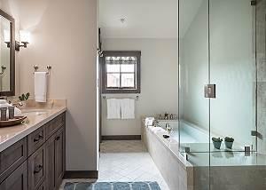 Junior Master Bathroom - Four Pines - Teton Village Luxury Cabin