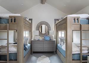 Guest Bedroom 3 - Four Pines - Teton Village Luxury Cabin Rental