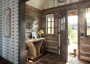 Front Entry - Four Pines - Teton Village Luxury Cabin Rental