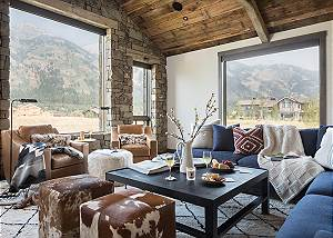Great Room - Four Pines - Teton Village Luxury Cabin Rental
