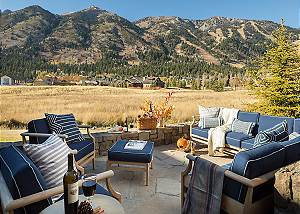 Patio - Four Pines - Teton Village Luxury Cabin Rental