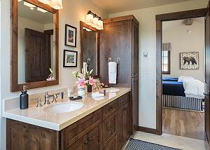 Guest Bedroom 3  - Four Pines - Teton Village Luxury Cabin