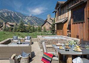 Back Patio - Four Pines - Teton Village Luxury Cabin Rental