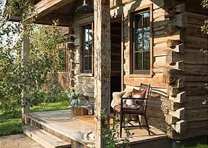 Front Deck - Four Pines - Teton Village Luxury Cabin Rental