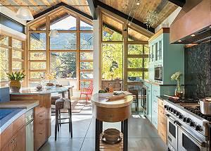 Kitchen - Villa at May Park - Luxury Villa Rental Jackson Hole