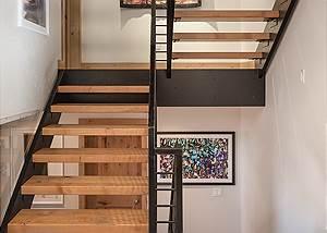Stairs - Villa at May Park - Luxury Villa Rental Jackson Hole