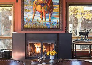 Fireplace - Villa at May Park - Luxury Villa Rental Jackson Hole