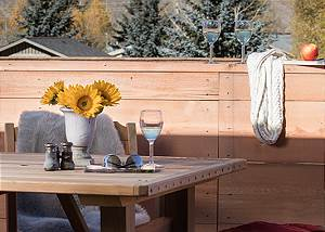 Deck - Villa at May Park - Luxury Villa Rental Jackson Hole