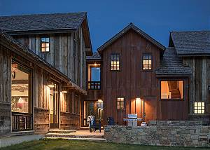 Back Exterior - Four Pines - Teton Village, Wyoming Luxury Cabin