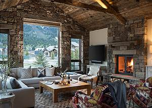 Great Room - Four Pines - Teton Village, Wyoming Luxury Cabin