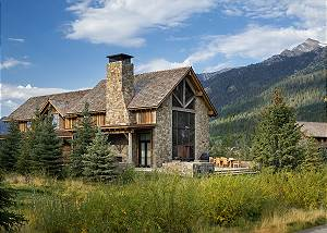 Back Exterior - Fish Creek Lodge - Teton Village Luxury Cabin