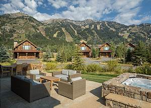 Deck - Fish Creek Lodge - Teton Village Luxury Cabin Rental