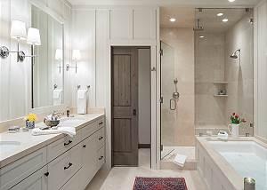 Master Bathroom- Fish Creek Lodge - Teton Village Luxury Cabin