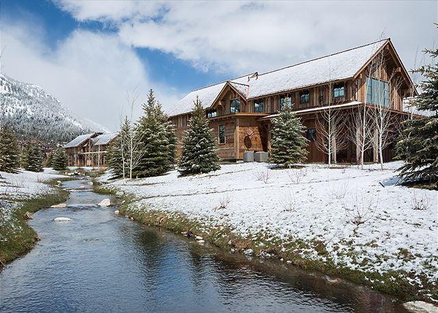 Back Exterior - Fish Creek Lodge - Teton Village Luxury Cabin