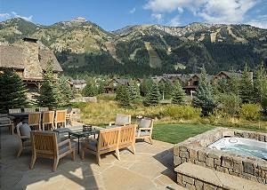 Deck - Fish Creek Lodge - Teton Village Luxury Cabin Rental