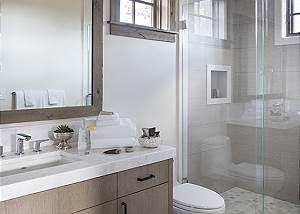 Guest Bathroom - Cirque View Homestead - Teton Village, WY