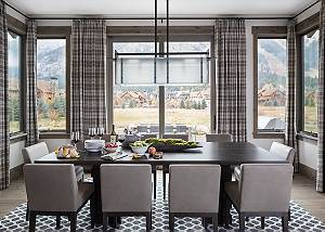 Dining - Cirque View Homestead - Teton Village, WY - Luxury Vill