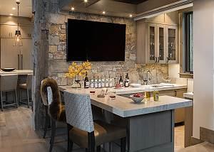 Bar - Cirque View Homestead - Teton Village, WY - Luxury Villa