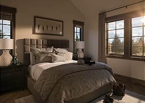 Guest Bedroom 1 - Cirque View Homestead - Teton Village, WY