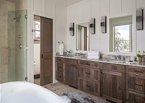 Main Level Master Bathroom - Four Pines 102 - Teton Village